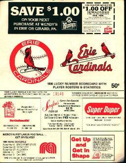 Erie Cardinals Scorecard!