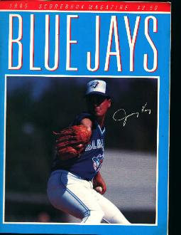 1985 Blue Jays Scorebook
