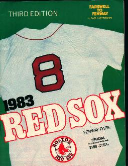 1983 Red Sox Scoreboard Mag!