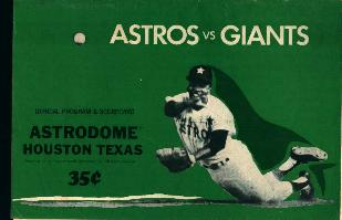 Astros Vs. Giants Program-Scorecard 1970!