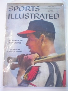 Sports Illustrated,6/2/58,Ed Mathews cover