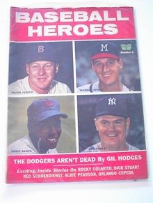 Baseball Heroes,1959,Jackie Jensen,Ernie Bank