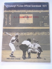 1971 Pittsburgh Pirates Scorebook 3 Rivers