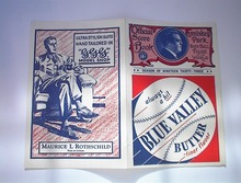 1933 American and National League Score Card