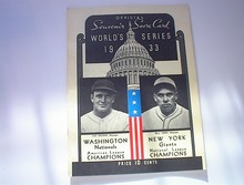 1933 Washington vs New York World Series