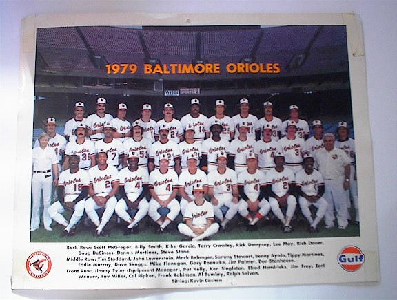 1979 COLOR PHOTO of The Baltimore Orioles