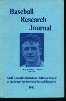 Baseball Research Journal 1980