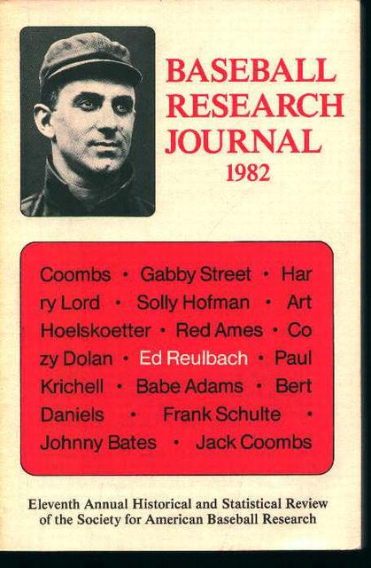 Baseball Research Journal 1982