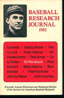 Baseball Research Journal 1982