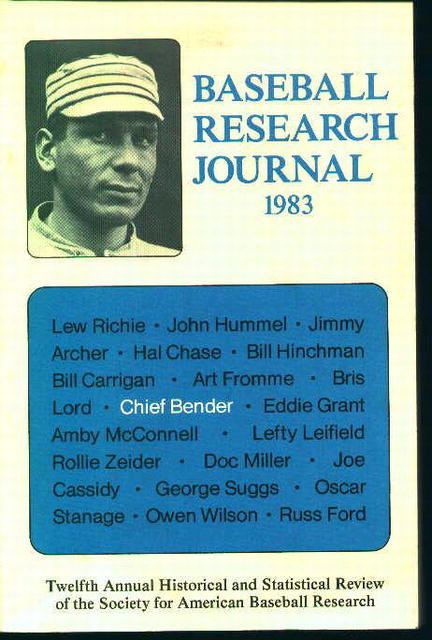 Baseball Research Journal 1983