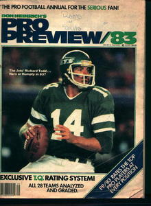 Pro Football Review from 1983!
