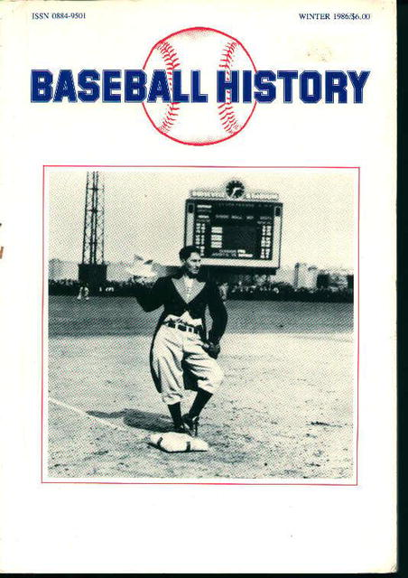 Baseball History Winter 1986