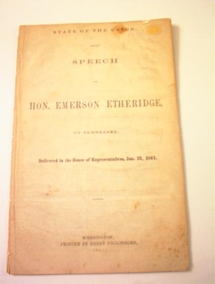 Speech of Hon.Emerson Etheridge,1/23/1861