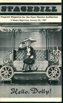Stagebill-Hello Dolly with Carol Channing!