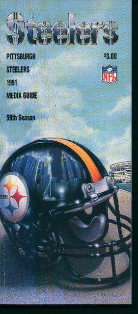 Steelers Media Guide from 1991