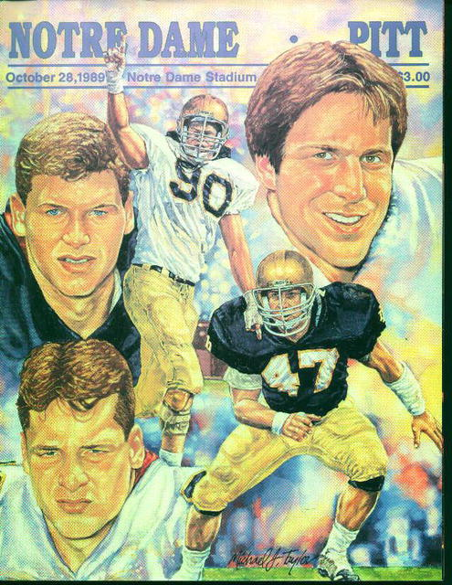 Notre Dame Vs. Pitt Program from 10/28/89!