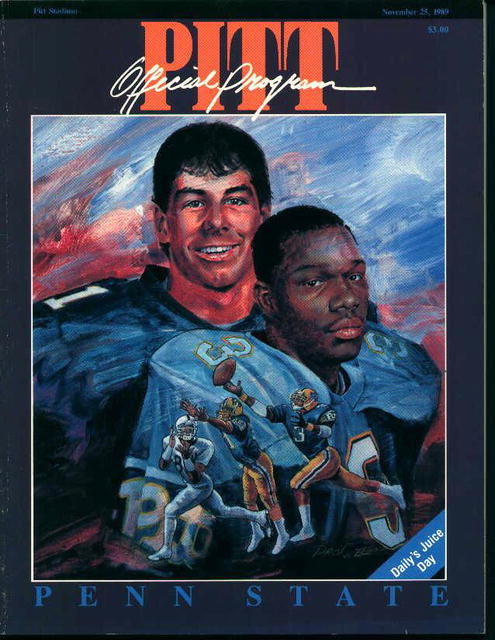 Pitt vs Penn State Official Program 11/25/89