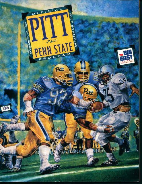 Pitt vs Penn State Program 11/28/91!