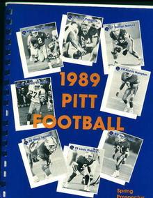 1989 Pitt Football Spring Prospectus
