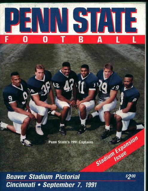 Penn State vs Cincinnati September 7,1991!