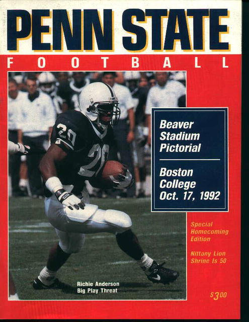 Penn State Vs. Boston Collge Oct. 17,1992!