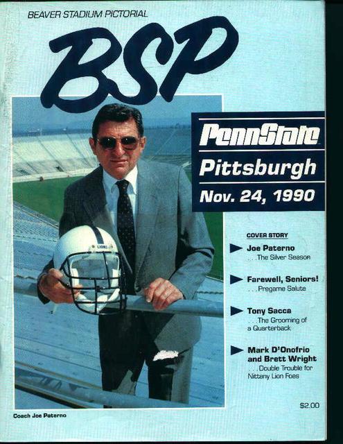 Penn State vs. Pittsburgh November 24,1990