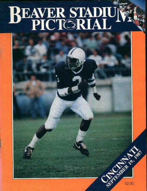 Penn State Vs. Cincinatti September 19,1987!
