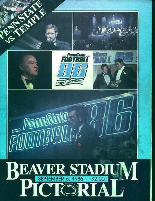 Penn State Vs Temple Sept 6, 1986!