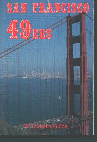 San Francisco 49ers 1978 Media Guide!
