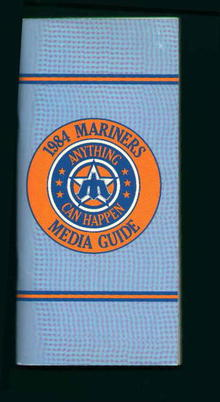 1984 Seattle Mariners Media Guide!