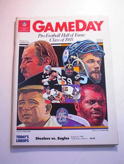 GAMEDAY STEELERS vs EAGLES Aug 14,1988