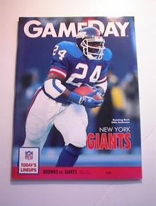 GAMEDAY BROWNS vs GIANTS Aug 10,1991