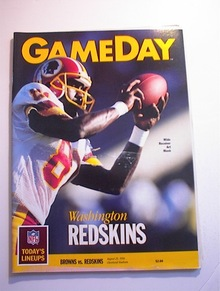 GAMEDAY Browns vs Redskins Aug 25,1990