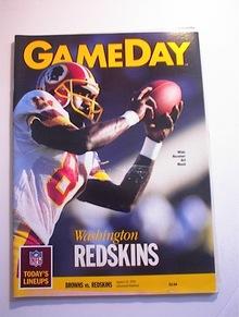 GAMEDAY Browns vs Redskins Aug 25,1990