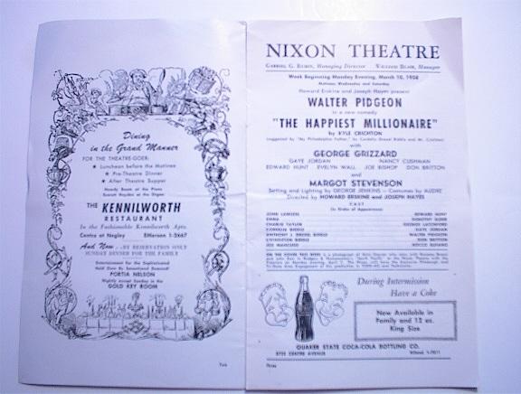 1972 Nixon Theatre Program,Walter Pidgeon