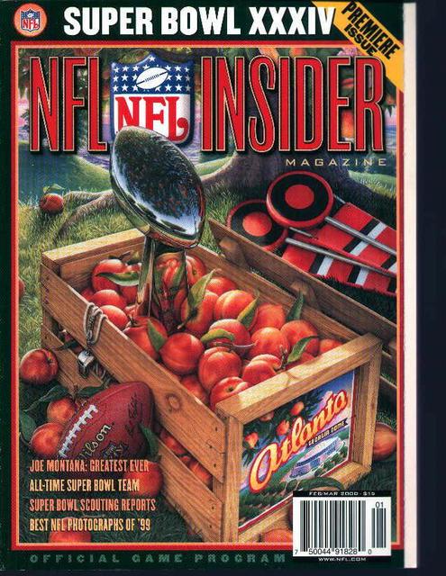 NFL Insider Super Bowl XXXIV Official Game Pg
