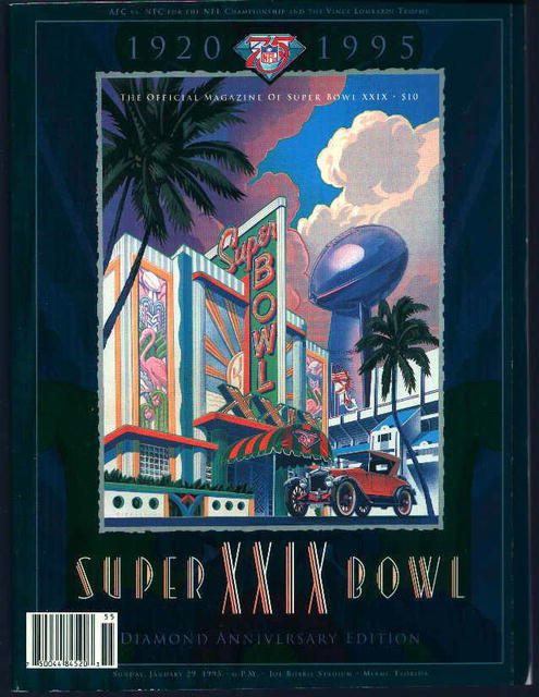 Super Bowl XXIX Diamond Anniversary 1920-1995