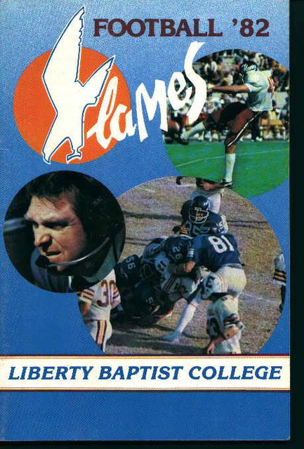 Liberty Baptist College Football Guide 1982!