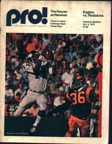 Program from Eagles Vs Redskins Game 10/5/75
