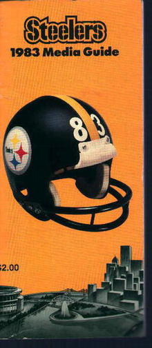 Steelers Media Guide from 1983 Player Profile