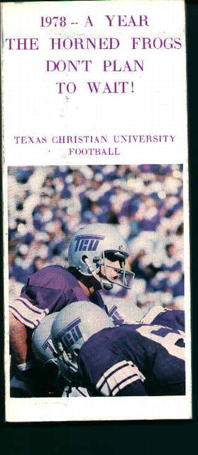 Texas Christian University F1978 Media Guide!