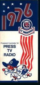 Detroit Tigers 1976 Media Guide! Schedule!