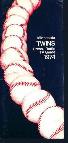 Minnesota Twins 1974 Media Guide! Schedule!