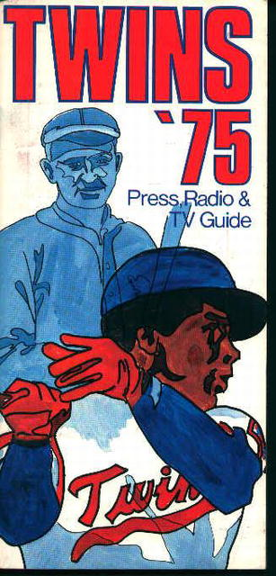 Minnesota Twins 1975 Media Guide! Schedule!