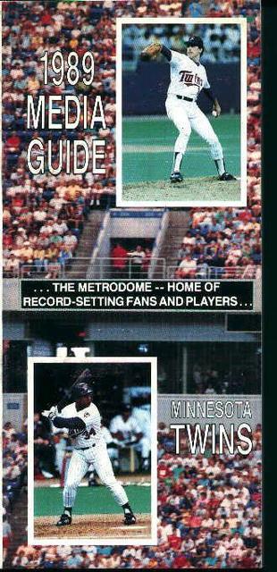 Minnesota Twins 1989 Media Guide! Schedule!