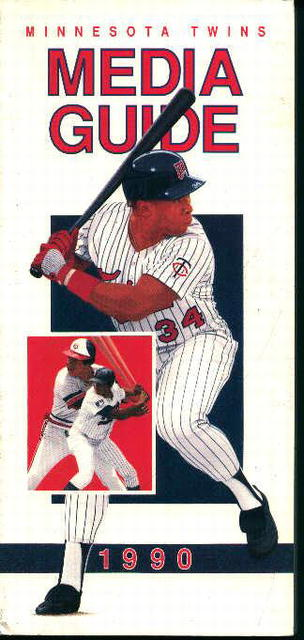 Minnesota Twins 1990 Media Guide! Schedule!