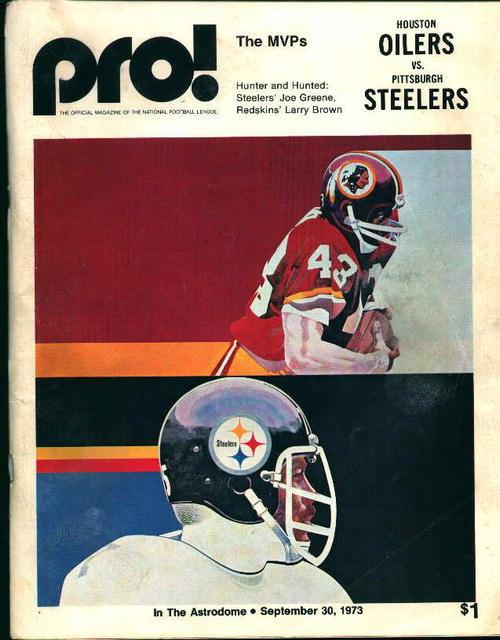 Program-Oilers vs Steelers 9/30/73 Game!