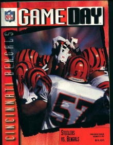 Game Day-Steelers Vs Bengals Program 10/19/95
