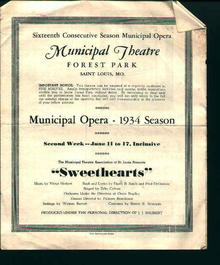 Municipal Theatre Forest Park-Sweethearts!