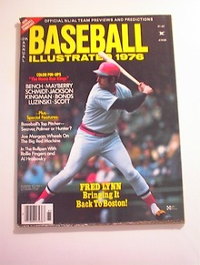 Baseball Illustrated,1976,Fred Lynn cover